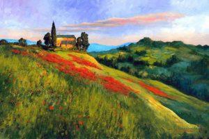 Мастер-класс по масляной живописи «Долины Прованса»
