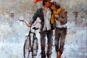 Мастер-класс по масляной живописи «Дождливое настроение по мотивам работ Андрэ Кона»
