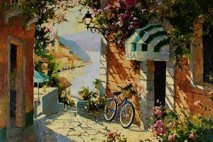 Мастер-класс по масляной живописи «Солнечное настроение по мотивам работ Marilyn Simandle»