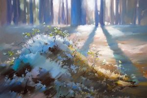 Мастер-класс по масляной живописи «Пастельные пейзажи по мотивам работ Ольги Абрамовой»