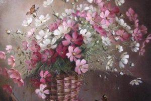 Мастер-класс по масляной живописи «Космея»
