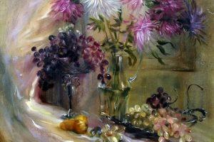 Мастер-класс по масляной живописи «Астры»