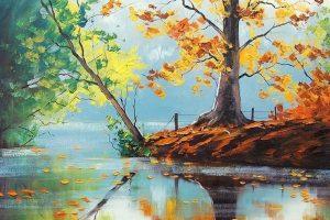 Мастер-класс по масляной живописи «Осень по мотивам работ Грэма Геркема»