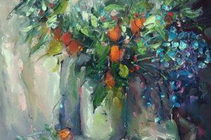 Мастер-класс по масляной живописи «Осенний букет»