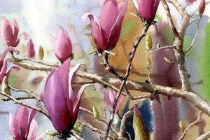 Мастер-класс по масляной живописи «Магнолия»
