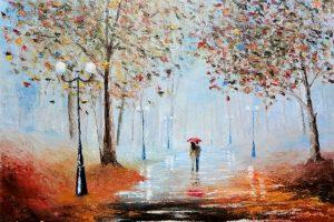 Мастер-класс по масляной живописи «Осень. Двое»