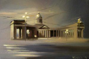 Мастер-класс по масляной живописи «Пасмурный Петербург»