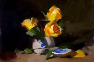 Мастер-класс по масляной живописи «Цветы по мотивам работ Qiang Huang»