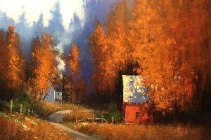 Мастер-класс по масляной живописи «Осенний пейзаж по мотивам работ Ромоны Янгквист»