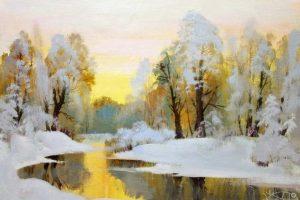 Мастер-класс по масляной живописи «Зимний пейзаж неаполитанскими красками»