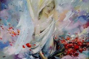 Мастер-класс по акриловой живописи «Ангелы акриловыми красками»