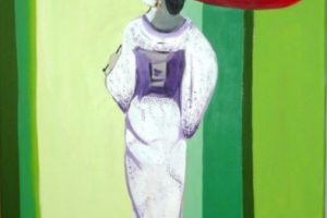 Мастер-класс по масляной живописи «Девушка в японском стиле»