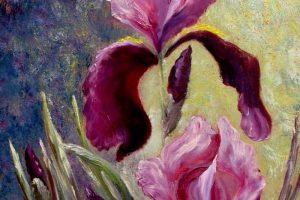 Мастер-класс по масляной живописи «Ирисы мастихином»