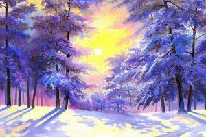 Мастер-класс по масляной живописи «Мороз и солнце, день чудесный…»