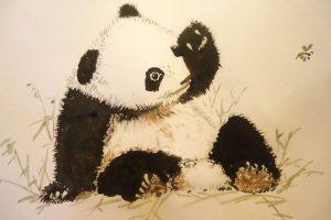Мастер-класс по масляной живописи «Панда»
