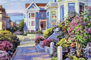 Мастер-класс по масляной живописи «Солнечное настроение по мотивам работ Ховарда Беренса»