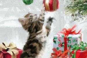 Мастер-класс по масляной живописи «Новогоднее настроение по мотивам работ Richard Macneil»