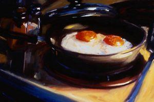 Мастер-класс по масляной живописи «Завтрак. Яичница»