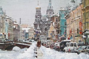 Мастер-класс по масляной живописи «Зимний Петербург»