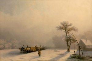 Мастер-класс по масляной живописи «Зимний пейзаж по мотивам работ И.К. Айвазовского»