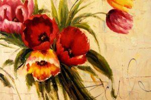 Мастер-класс по масляной живописи «Тюльпаны мастихином»