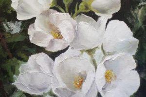 Мастер-класс по масляной живописи «Цветущий жасмин»