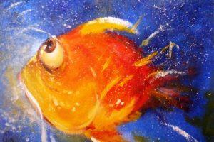 Мастер-класс по масляной живописи «Экзотические рыбки»