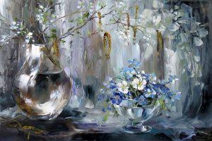 Мастер-класс по масляной живописи «Весенний букет с вербой»