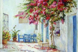 Мастер-класс по масляной живописи «Прекрасная бугенвиллея»