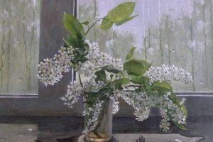 Мастер-класс по масляной живописи «Белая черемуха»