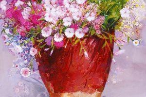 Мастер-класс Букет цветов по мотива работ Yi Seong-bu