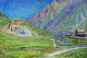 Мастер-класс по масляной живописи «Домик в горах»