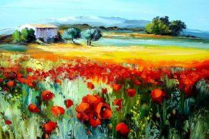 Мастер-класс по масляной живописи «Маковое поле»