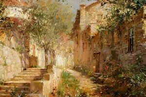 Мастер-класс по масляной живописи «Прогулки по южному городу»