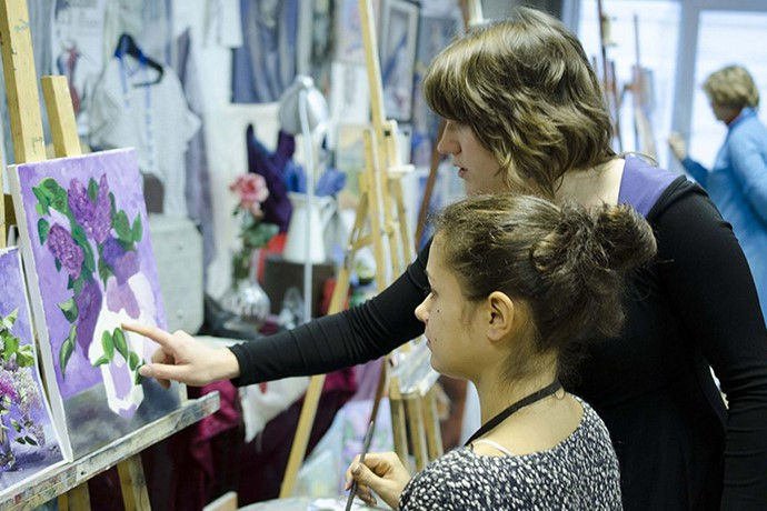 Пробный урок по живописи и рисунку в ХУдожественной школе Пальмира Арт