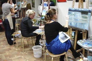 Студия живописи и рисунка в Художественной школе Пальмира Арт