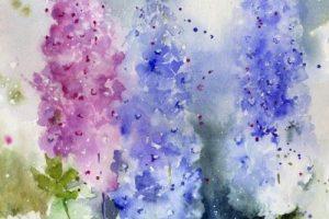 Мастер-класс «Цветы по мотивам работ Yvonne Harry»