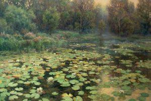 Мастер-класс по масляной живописи «Лесное озеро»