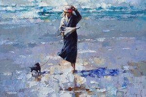 Мастер-класс по масляной живописи «Девушка на берегу моря»