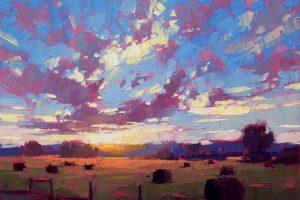 Мастер-класс по масляной живописи «Пейзаж по мотивам работ Дэвида Менсинга»