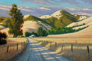 Мастер-класс по масляной живописи «Пшеничные поля»