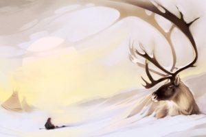Мастер-класс по масляной живописи «Северный олень»
