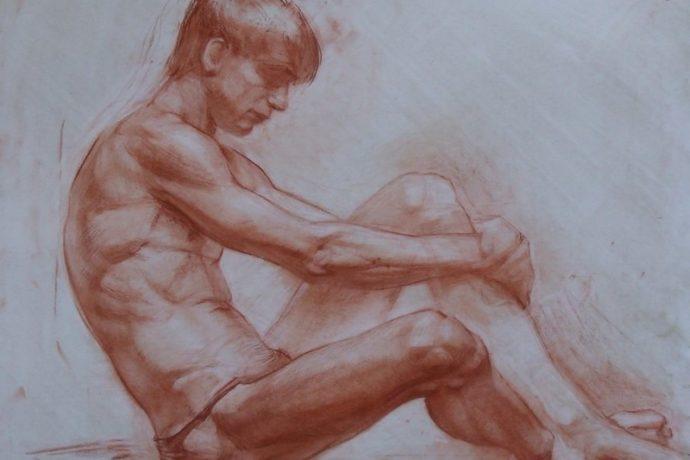 Открыта запись на мастер-класс по быстрым наброскам фигуры обнаженной мужской модели