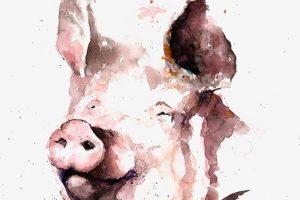 Мастер-класс по акварельной живописи «Свинки акварелью»