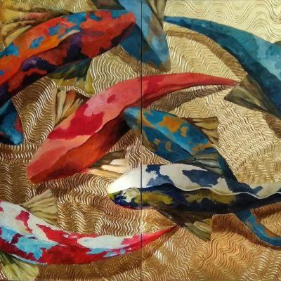 Объемное декоративное панно с поталью в Художественной школе Пальмира Арт