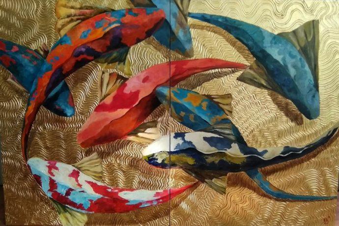 Новый курс «объемное декоративное панно с поталью»