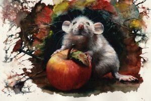 Мастер-класс по масляной живописи «Рисуем мышек к Новому Году»